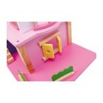 Legler Dřevěný domeček pro panenky růžový
