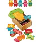 Djeco puzzle Skládání zvířátek 15 dílků