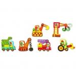 Djeco Duo puzzle Autíčka v pohybu 12 dílů