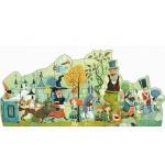 Djeco Velké puzzle - Pohádkový průvod 36 dílků