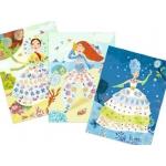 Djeco Výtvarný set s razítky - květinové princezny
