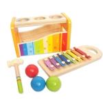 Hape Dřevěný muzikální set zatloukačka a xylofón