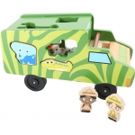 Legler Small Foot Dřevěná vkládačka Autobus se zvířátky Safari