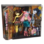 Mattel Monster High Boo York - trojice panenek Luna Mothews, Mouscedes King, Elle Eedee