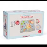 Le Toy Van Jídelní sada - textilní podložka, dřevěné nádobí pro děti
