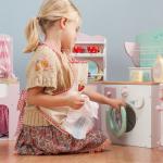 Le Toy Van Látková a dřevěná sada na vaření - zástěra a náčiní