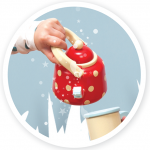 Le Toy Van Dřevěná konvička s puntíky