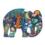 Djeco puzzle Eléphant - 150 dílů
