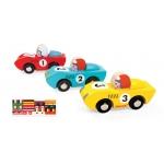 Janod Závodní dráha Story Set s 3 auty a puzzle