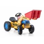 G21 Šlapací traktor Classic s nakladačem a vlečkou žluto/modrý  G21TX413