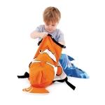 Trunki Nepromokavý batoh Klaun očkatý oranžový