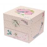 Djeco Hrací skříňka s ptáčky růžová