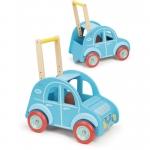 Vilac Dřevěný vozík autíčko modré