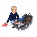 Trunki Dětský kufřík odrážedlo Koťátko Barča šedý