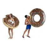 Nafukovací kruh Springos Donut hnědý 120cm