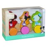 Derrson Disney Dřevěný tahací Mickey, Minnie a Donald