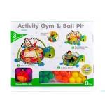 Kinderplay multifunkční hrací deka 3v1 s míčky želva
