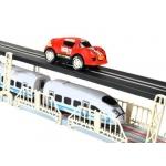 Autodráha s vláčkodráhou na dálkové ovládání