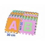 EVA Pěnové puzzle 30x30cm 36 ks písmena a čísla