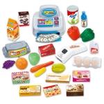 Dětský obchod supermarket s vozíkem a pokladnou