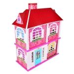DORIS Domeček střední s nábytkem + panenky 6 ks