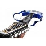 Dětská rocková elektrická kytara na baterie + zesilovač a mikrofon Blue