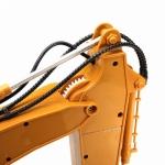 Huina Toys RC Supersilný bagr s kovovou lžící 15 kanálů RTR 1:14 žlutý