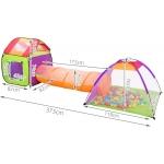 Malatec 2881 Dětský stanový set se spojovacím tunelem + 200 míčků