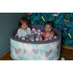 iMex 2822 Suchý bazén s míčky růžový