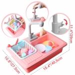 iMex Hrací sada Kuchyňský dřez s příslušenstvím růžový