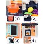 Dětská kuchyňka XXL se zvuky a tekoucí vodou růžová