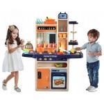 Dětská kuchyňka XXL se zvuky a tekoucí vodou modrá