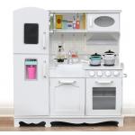 Derrson XXL Dřevěná kuchyňka bílá s příslušenstvím W5179