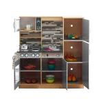 Derrson XXL Dřevěná kuchyňka Modern natural W5178