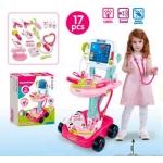 ISO 8245 Lékařský vozík s vyšetřením EKG růžový