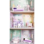 Ecotoys dřevěný třípatrový domeček pro panenky