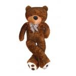 Velký plyšový medvěd tmavě hnědý 130 cm