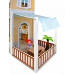 Kruzzel 9152 Domeček pro panenky LED s příslušenstvím a panenkami XXL