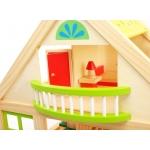 Doris dřevěný domeček s balkónem