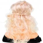Česací hlava s příslušenstvím blond