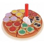Kruzzel 9354 Dřevěná krájecí pizza PIZZA 21cm