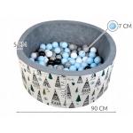 iMex 2891 Suchý bazén s míčky modrý