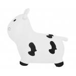 Skákací kravička s pumpou bílá
