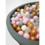 iMex Míčky do bazénu 7cm 500ks zlaté růžové