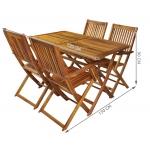 Malatec 5359 Zahradní nábytek dřevěný 4 + 1 hnědý