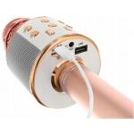 Karaoke mikrofon WS 858 Silver světle růžová