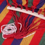 KIK KX9664 Hamaka houpací síť, červené pruhy 190 x 80cm