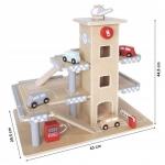 Ecotoys dřevěná parkovací garáž s výtahem