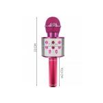 WSTER WS 858 Karaoke bluetooth mikrofon tmavě růžový
