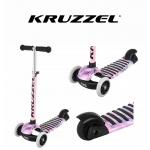 Kruzzel 10283 koloběžka tříkolová Rapid 60Kg růžová